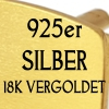 925 SILVER 18K GOLD PLATED +13.5€