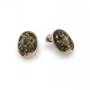 Amber Earrings | Sterling silver | Height - 15mm, Width - 11mm | Weight - 2,6g | ZD.1007SG