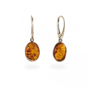 Amber Earrings | Sterling silver | Height - 33mm, Width - 11mm | Weight - 3,6g | ZD.1007K