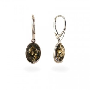 Amber Earrings | Sterling silver | Height - 33mm, Width - 11mm | Weight - 3,6g | ZD.1007KG