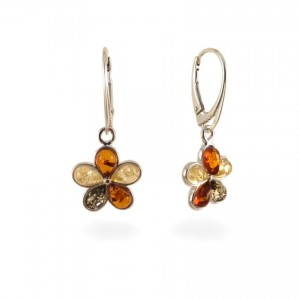 Amber Earrings | Sterling silver | Height - 33mm, Width - 15mm | Weight - 3,4g | ZD.1108K