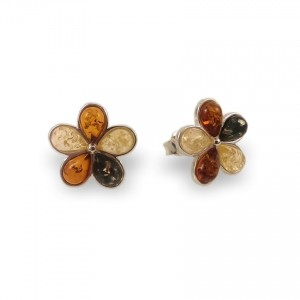 Amber Earrings | Sterling silver | Height - 15mm, Width - 15mm | Weight - 2,5g | ZD.1108S