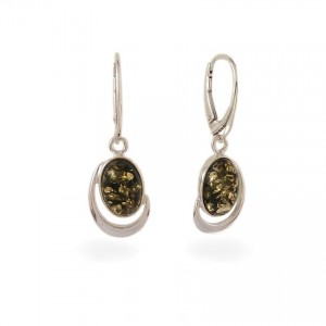 Amber Earrings | Sterling silver | Height - 36mm, Width - 13mm | Weight - 4,3g | ZD.1017KG