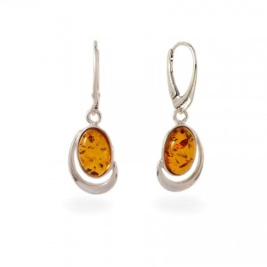 Amber Earrings | Sterling silver | Height - 36mm, Width - 13mm | Weight - 4,3g | ZD.1017K