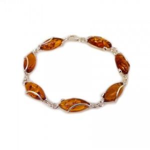 Amber bracelet | Sterling silver | Length - 205mm, Width - 9mm | Weight - 10,2g | ZD.1030