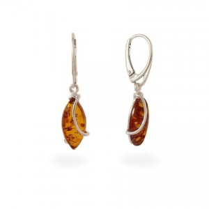 Amber Earrings   Sterling silver   Height - 38mm, Width - 9mm   Weight - 3,5g   ZD.1030