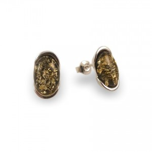 Amber Earrings | Sterling silver | Height - 14mm, Width - 8mm | Weight - 2,7g | ZD.1034SG