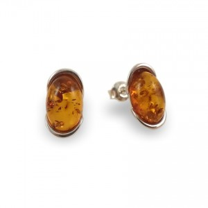 Amber Earrings | Sterling silver | Height - 14mm, Width - 8mm | Weight - 2,7g | ZD.1034S
