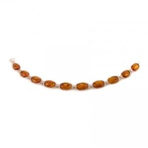 Amber bracelet | Sterling silver | Length - 187mm, Width - 8mm | Weight - 11,3g | ZD.1037B