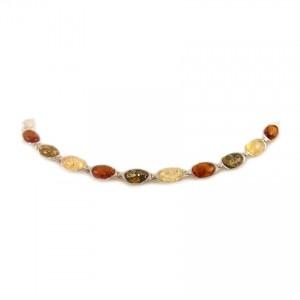 Amber bracelet | Sterling silver | Length - 187mm, Width - 8mm | Weight - 11,3g | ZD.1037BM
