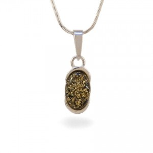 Amber pendant | Sterling silver | Height - 25mm, Width - 8mm | Weight - 1,7g | ZD.1034WG