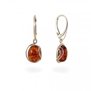 Amber Earrings | Sterling silver | Height - 33mm, Width - 12mm | Weight - 3,5g | ZD.1050K