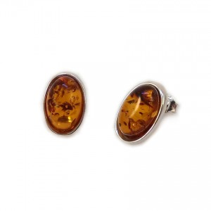 Amber Earrings | Sterling silver | Height - 16mm, Width - 10mm | Weight - 2,7g | ZD.1070S