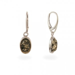Amber Earrings | Sterling silver | Height - 35mm, Width - 10mm | Weight - 4g | ZD.1070G