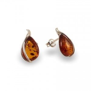 Amber Earrings | Sterling silver | Height - 17mm, Width - 9mm | Weight - 1,7g | ZD.1088S