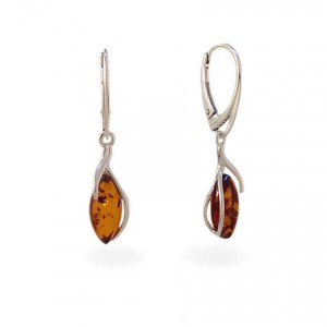 Amber Earrings | Sterling silver | Height - 36mm, Width - 8mm | Weight - 2,5g | ZD.1092K
