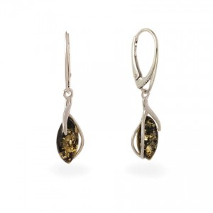 Amber Earrings | Sterling silver | Height - 36mm, Width - 8mm | Weight - 2,5g | ZD.1092KG