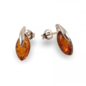 Amber Earrings | Sterling silver | Height - 15mm, Width - 6mm | Weight - 1,5g | ZD.1093S