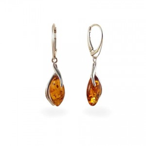 Amber Earrings | Sterling silver | Height - 40mm, Width - 10mm | Weight - 3,7g | ZD.1095K