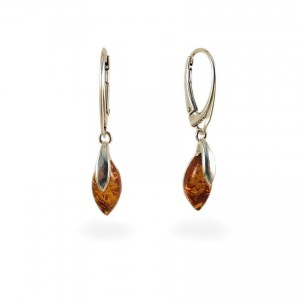 Amber Earrings | Sterling silver | Height - 35mm, Width - 6mm | Weight - 2,6g | ZD.1099K