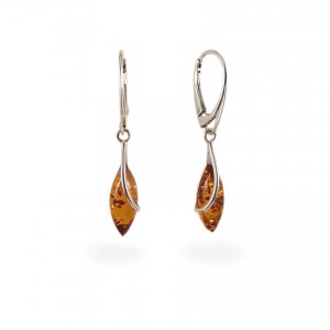 Amber Earrings | Sterling silver | Height - 39mm, Width - 7mm | Weight - 2,7g | ZD.1103K