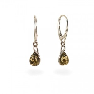 Amber Earrings   Sterling silver   Height - 31mm, Width - 7mm   Weight - 2,4g   ZD1113KG