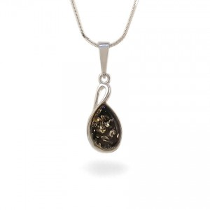 Amber pendant | Sterling silver | Height - 27mm, Width - 10mm | Weight - 1,7g | ZD.1113WG