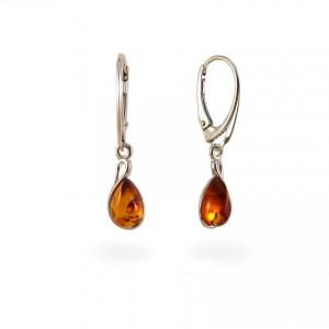 Amber Earrings | Sterling silver | Height - 31mm, Width - 7mm | Weight - 2,4g | ZD1113K