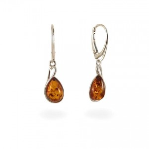 Amber Earrings | Sterling silver | Height - 36mm, Width - 10mm | Weight - 3,7g | ZD1113KL