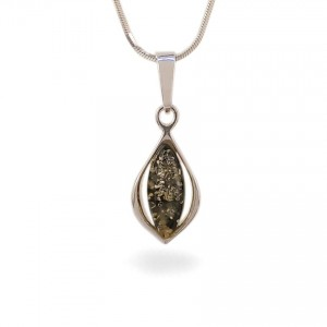 Amber pendant | Sterling silver | Height - 29mm, Width - 11mm | Weight - 1,7g | ZD.1116G