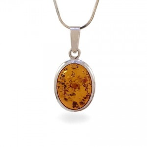 Amber pendant | Sterling silver | Height - 30mm, Width - 15mm | Weight - 2,5g | ZD.148W