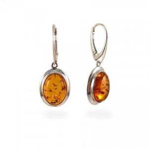 Amber Earrings | Sterling silver | Height - 36mm, Width - 14mm | Weight - 4,4g | ZD.317W