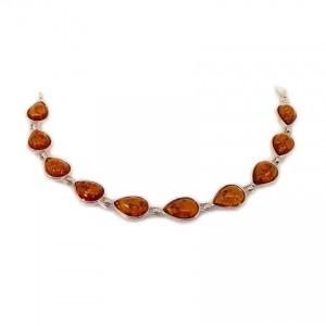 Amber bracelet | Sterling silver | Length - 187mm, Width - 9mm | Weight - 8,8g | ZD.680