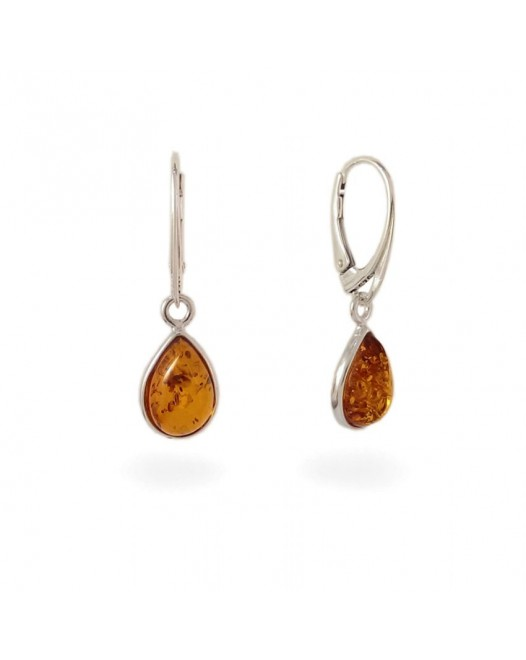 Amber Earrings | Sterling silver | Height - 33mm, Width - 9mm | Weight - 2,7g | ZD.681