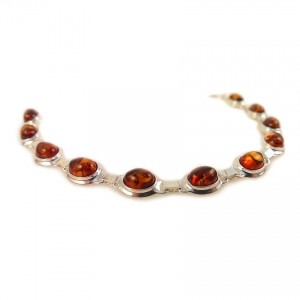 Amber bracelet | Sterling silver | Length - 193mm, Width - 9mm | Weight - 10,1g | ZD.320B