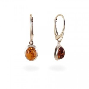 Amber Earrings | Sterling silver | Height - 29mm, Width - 9mm | Weight - 2,5g | ZD.317K