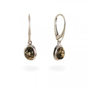 Amber Earrings | Sterling silver | Height - 29mm, Width - 9mm | Weight - 2,5g | ZD.317KG