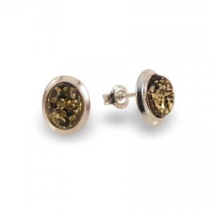 Amber Earrings | Sterling silver | Height - 11mm, Width - 9mm | Weight - 1,8g | ZD.770SG