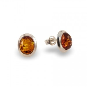 Amber Earrings | Sterling silver | Height - 11mm, Width - 9mm | Weight - 1,8g | ZD.770S