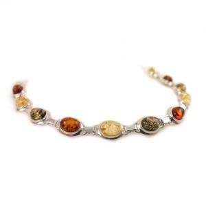 Amber bracelet | Sterling silver | Length - 193mm, Width - 9mm | Weight - 10,1g | ZD.320BM