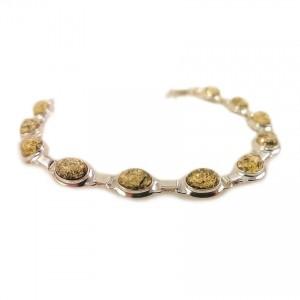 Amber bracelet | Sterling silver | Length - 193mm, Width - 9mm | Weight - 10,1g | ZD.320BG