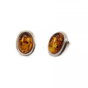 Amber Earrings   Sterling silver   Height - 15mm, Width - 11mm   Weight - 2,7g   ZD.829S