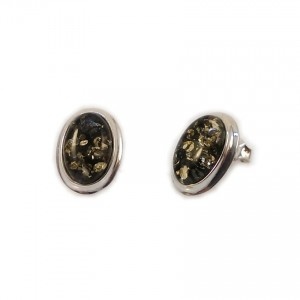 Amber Earrings   Sterling silver   Height - 15mm, Width - 11mm   Weight - 2,7g   ZD.829SG