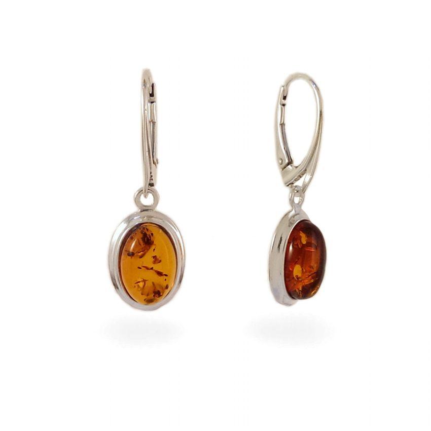 Amber Earrings   Sterling silver   Height - 33mm, Width - 11mm   Weight - 3,5g   ZD.829K