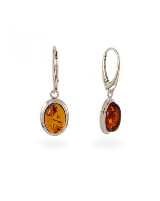 Amber Earrings | Sterling silver | Height - 33mm, Width - 11mm | Weight - 3,5g | ZD.829K