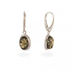 Amber Earrings   Sterling silver   Height - 33mm, Width - 11mm   Weight - 3,5g   ZD.829KG