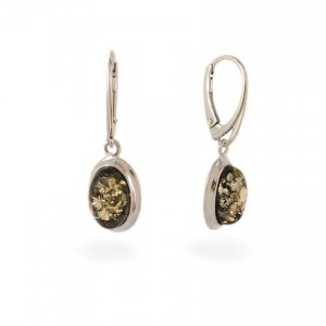 Amber Earrings | Sterling silver | Height - 33mm, Width - 11mm | Weight - 3,5g | ZD.829KG