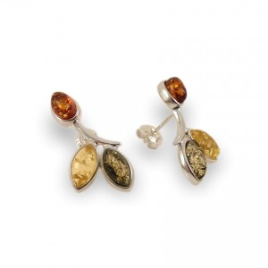 Amber Earrings | Sterling silver | Height - 24mm, Width - 12mm | Weight - 3,1g | ZD.839S