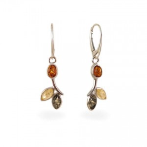Amber Earrings | Sterling silver | Height - 43mm, Width - 12mm | Weight - 4g | ZD.839K