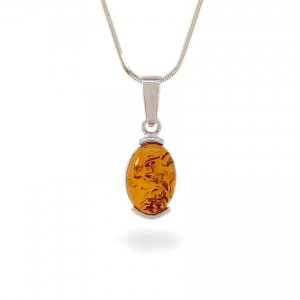 Amber pendant | Sterling silver | Height - 28mm, Width - 10mm | Weight - 1,7g | ZD.979W